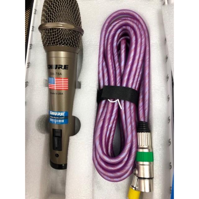 Micro hát karaoke SM-78A âm thanh đỉnh