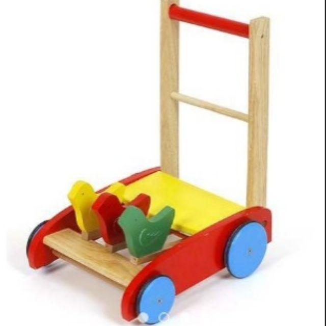 Xe tập đi gỗ hình con gà đáng yêu cho bé