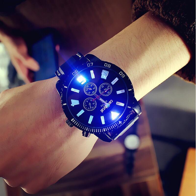 Đồng hồ nam Quartz phát sáng cá tính DH66