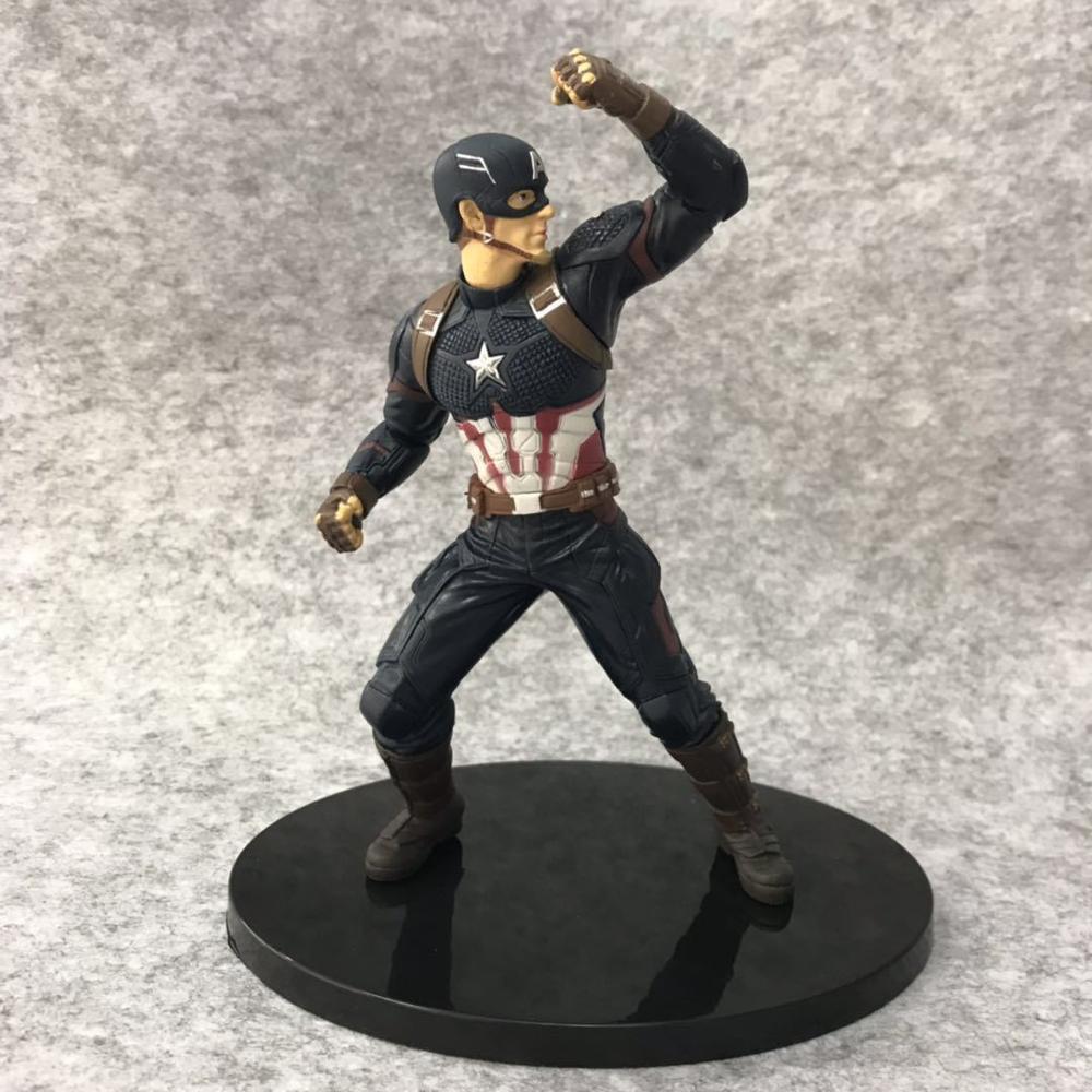 Marvel Avengers Endgame Captain America PVC Action Figure Anime Superhero Captain Collection Model Kids Toys Doll Gift