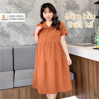 Đầm váy bầu dự tiệc 2MAMA dáng suông đẹp thiết kế thắt nơ - V40 thumbnail