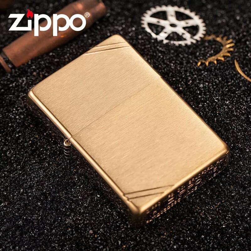 Bật lửa Zippo Vintage Brushed Brass - Chính hãng Mỹ có Tem Đỏ