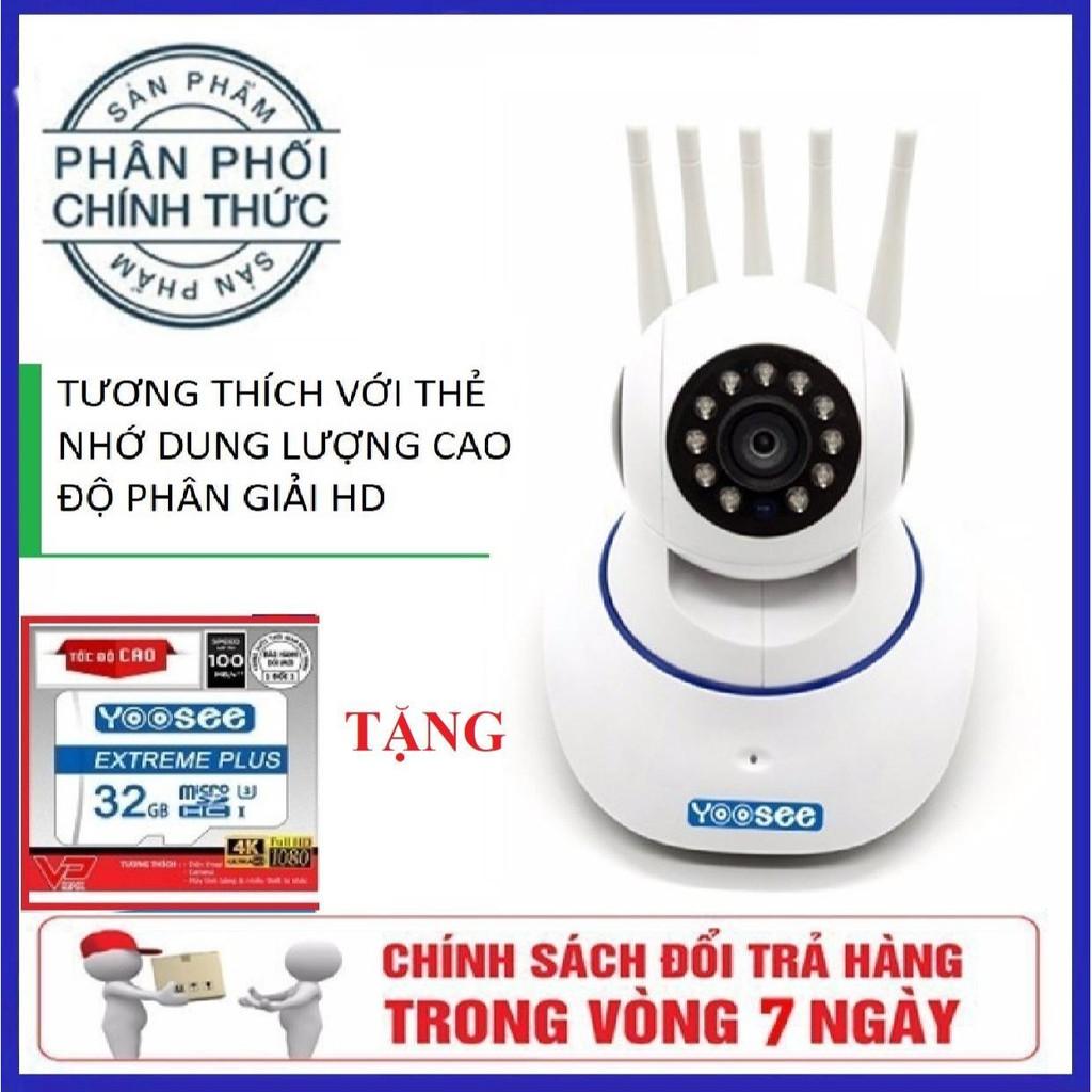 [Tặng thẻ nhớ 32GB] Camera IP wifi YOOSEE 5 râu 360° độ phân giải 2.0M - 1080P - 22984311 , 3511798030 , 322_3511798030 , 407000 , Tang-the-nho-32GB-Camera-IP-wifi-YOOSEE-5-rau-360-do-phan-giai-2.0M-1080P-322_3511798030 , shopee.vn , [Tặng thẻ nhớ 32GB] Camera IP wifi YOOSEE 5 râu 360° độ phân giải 2.0M - 1080P