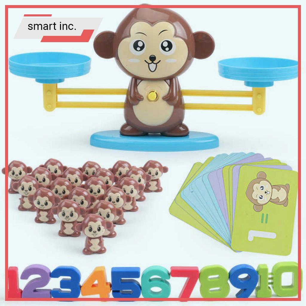 Bộ Bàn Cân Khỉ Con Thăng Bằng 🏆HOT🏆 Toán Học Phép Tính Thẻ Số Đồ Chơi Trẻ Con Trẻ Em Bé Trai Bé Gáii