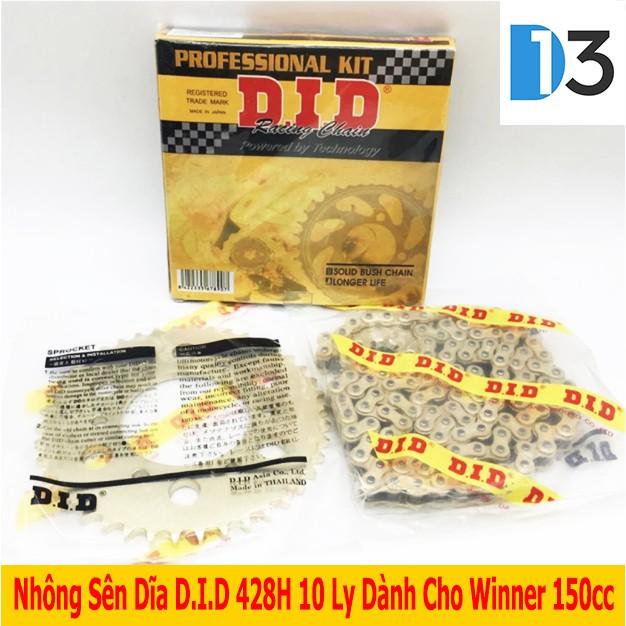Bộ Nhông Sên Dĩa 10 Ly D.I.D Dành Cho Exciter/ Winner 150cc - 3015635 , 398392775 , 322_398392775 , 698000 , Bo-Nhong-Sen-Dia-10-Ly-D.I.D-Danh-Cho-Exciter-Winner-150cc-322_398392775 , shopee.vn , Bộ Nhông Sên Dĩa 10 Ly D.I.D Dành Cho Exciter/ Winner 150cc
