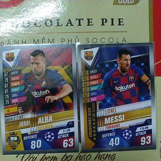 Bộ 3 Thẻ Barcelona – match attax 101 mùa mới 2020