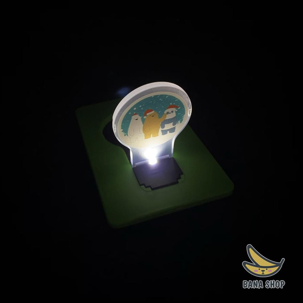 Đèn LED dạng thẻ (LED Card Light) bỏ túi We Bare Bears