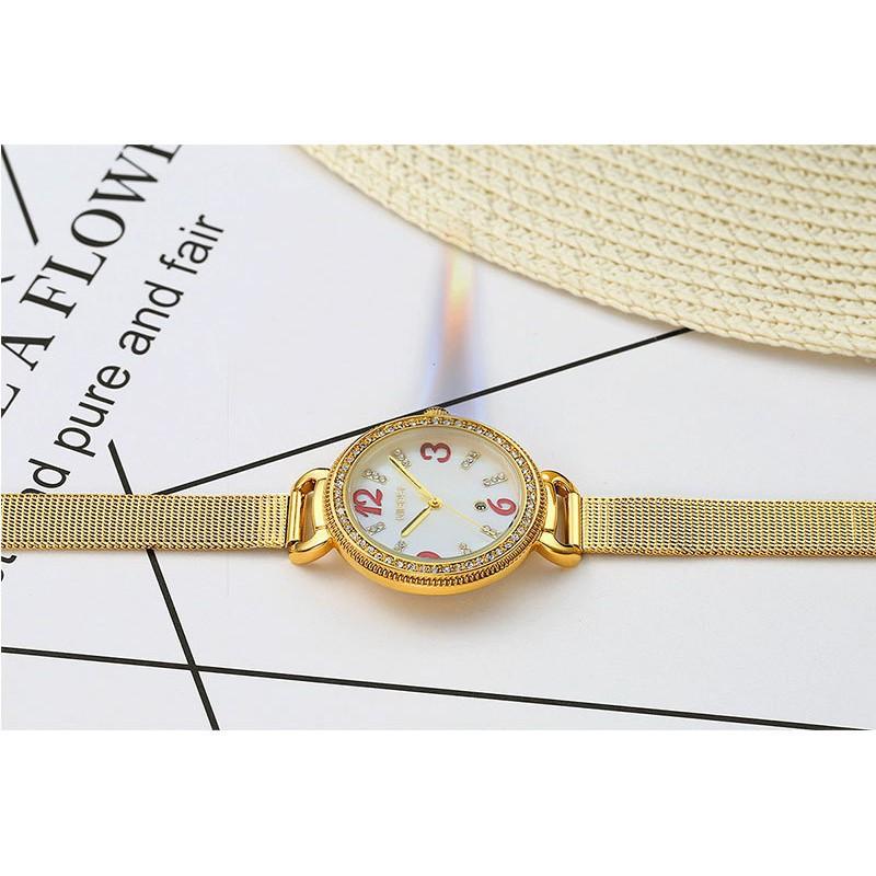 Đồng hồ nữ NIBOSI NI2317 dây thép lụa chính hãng fullbox