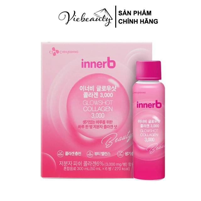 Hộp 6 Chai Nước Uống Collagen Vitamin C Sáng Da Innerb Glowshot (50mlx6) - Viebeauty