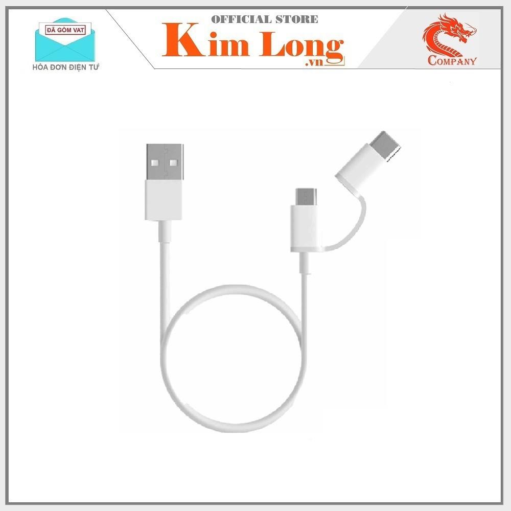 CÁP SẠC NHANH XIAOMI MI 2-IN-1 USB CABLE MICRO USB TO TYPE C