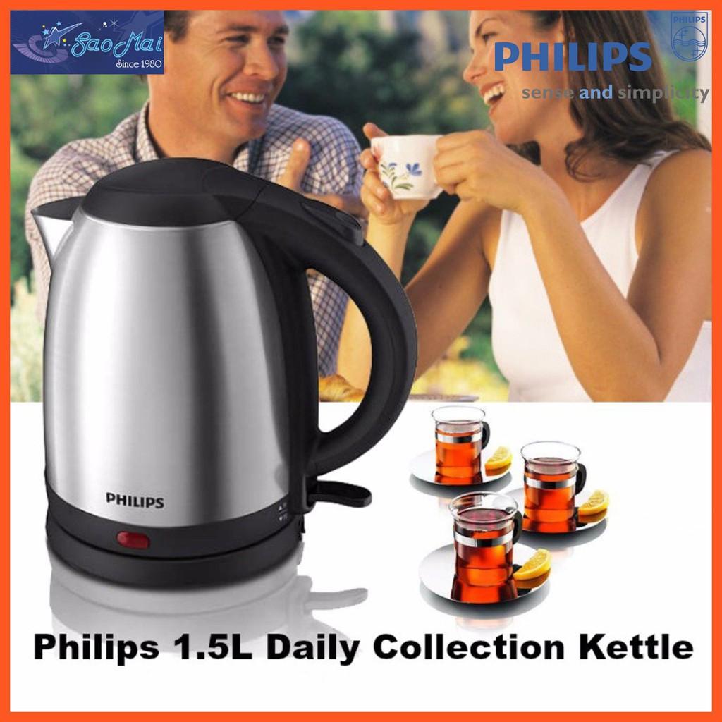 Ấm đun siêu tốc inox Philips HD9306 1.5l
