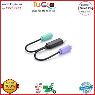 [Mã ELFLASH5 giảm 20K đơn 50K] Bộ Chuyển Đổi Ugreen PS/2 Sang USB 20219 (20cm) - Hàng Chính Hãng