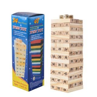 [Ana Kids] Đồ chơi rút gỗ 54 thanh loại to – Đồ chơi thông minh cho bé FRESHIP 99k