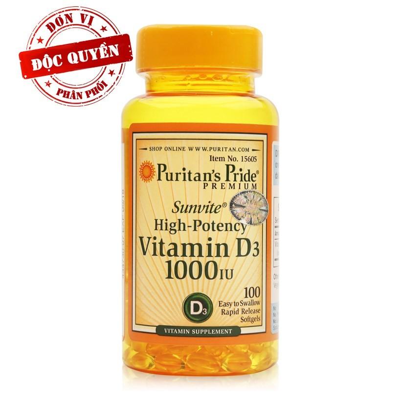 Viên uống làm đẹp da Vitamin D Sunvite High-Potency 100 viên
