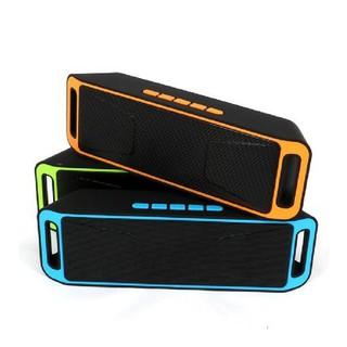 Loa bluetooth A2DP bass chuẩn, Loa mini bluetooth cầm tay SC208 Âm thanh chuẩn Stereo A2DP thumbnail