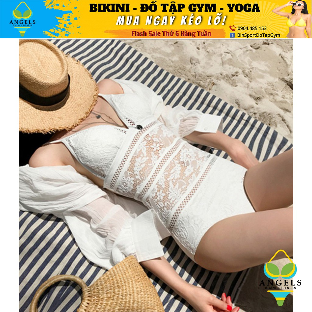 Bikini,Bộ Đồ Bơi Body Ren 2 Màu Trắng, Đen Siêu Đẹp, Hàng Nhập,BHN008
