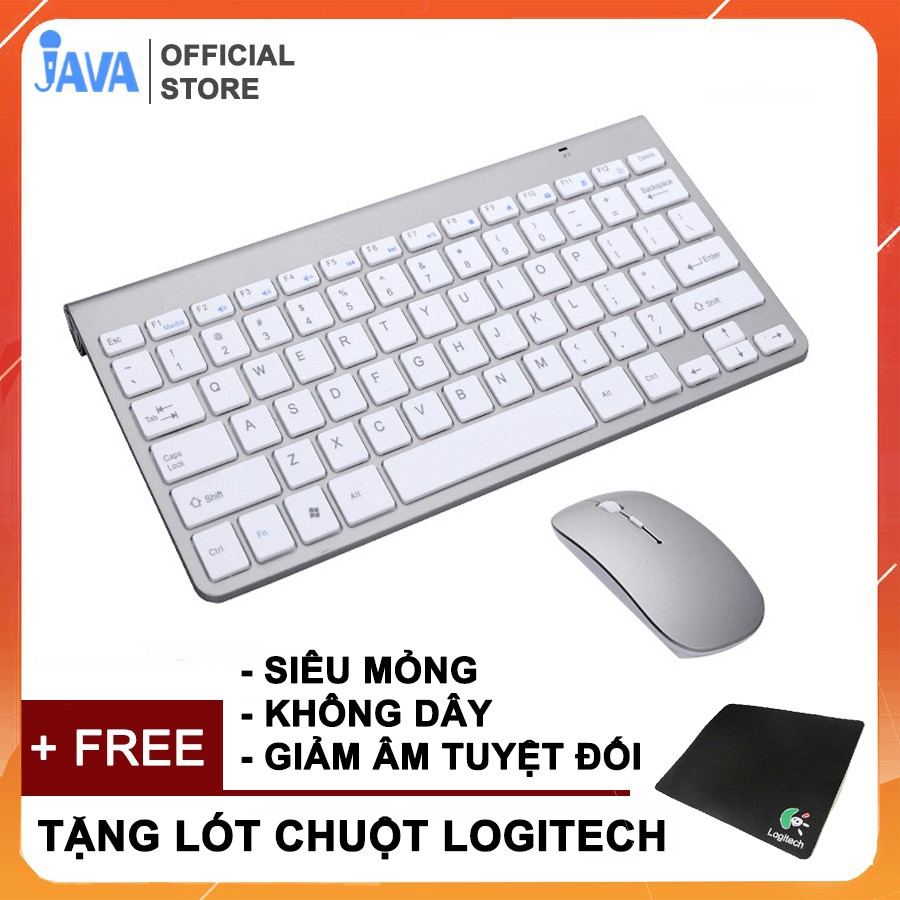 Bàn Phím và Chuột Không Dây Chống Thấm Nước 2.4G [ TẶNG LÓT CHUỘT ] dùng cho laptop, máy tính pc [ BH 6 THÁNG ]