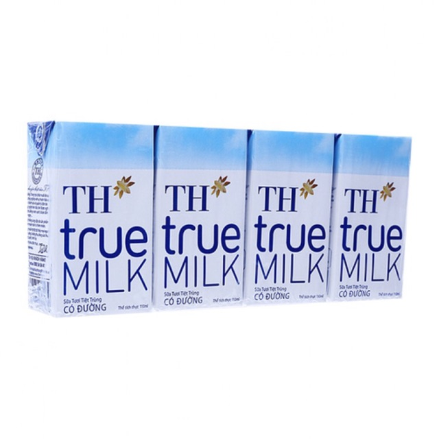 6 VỈ Sữa tươi TH true milk 110ml x 24 HỘP DATE 5/2018