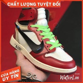 (FREESHIP+HỘP+QUÀ) Giày thể thao AIR JORDAN 1 OFF WHITE Retro High Chicago đỏ trắng siêu phong cách thumbnail
