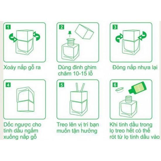 Tinh dầu TREO NẮP TRÒN nhà vệ sinh/tủ quần áo Eco oil