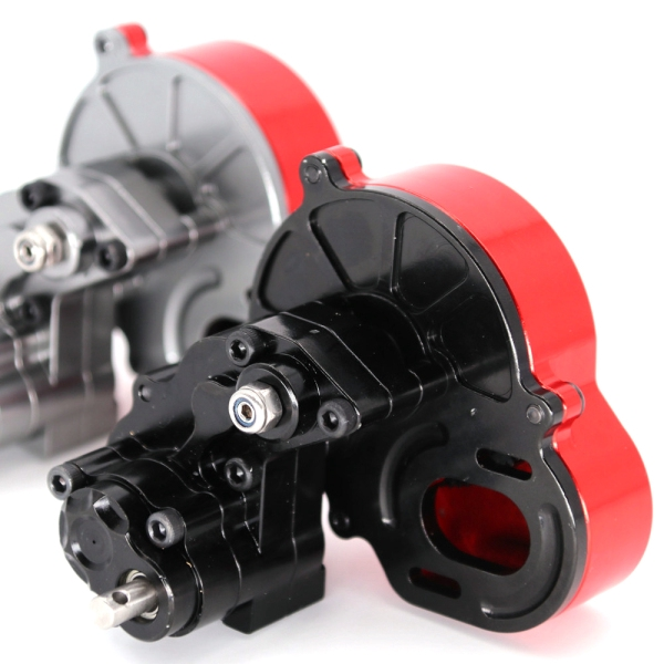 Aluminum Reverse Transmission Gearbox Assembly Assembly for SCX10 RC Caterpillars Car Truck Gearbox