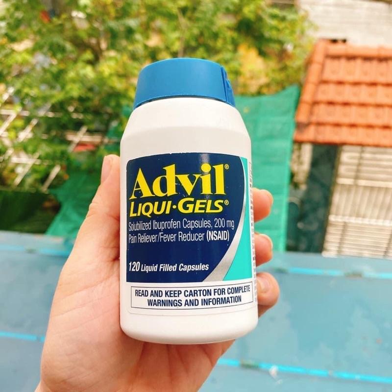 Hộp 120 viên uống Advil_liqui_gels của Mỹ