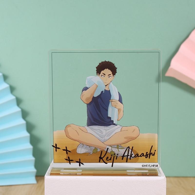 Mô hình để bàn trang trí hình nhân vật anime chơi bóng chuyền
