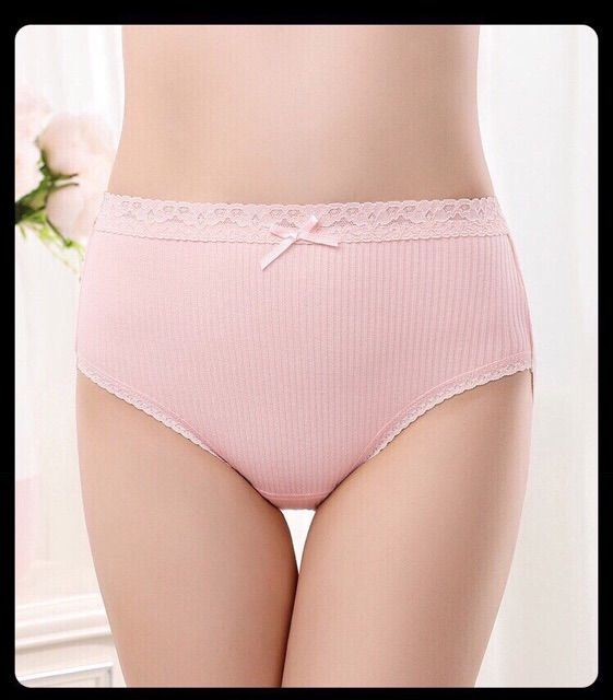 Xả kho quần lót gân cạp cao nữ QL111 (10 quần)