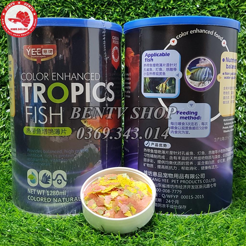 Thức Ăn Cá Cảnh Dạng Lá Tổng Hợp Tropics Fish (1280ml)