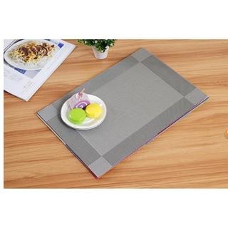 Khăn lót bàn ăn cao cấp phong cách Châu âu ( màu xám)