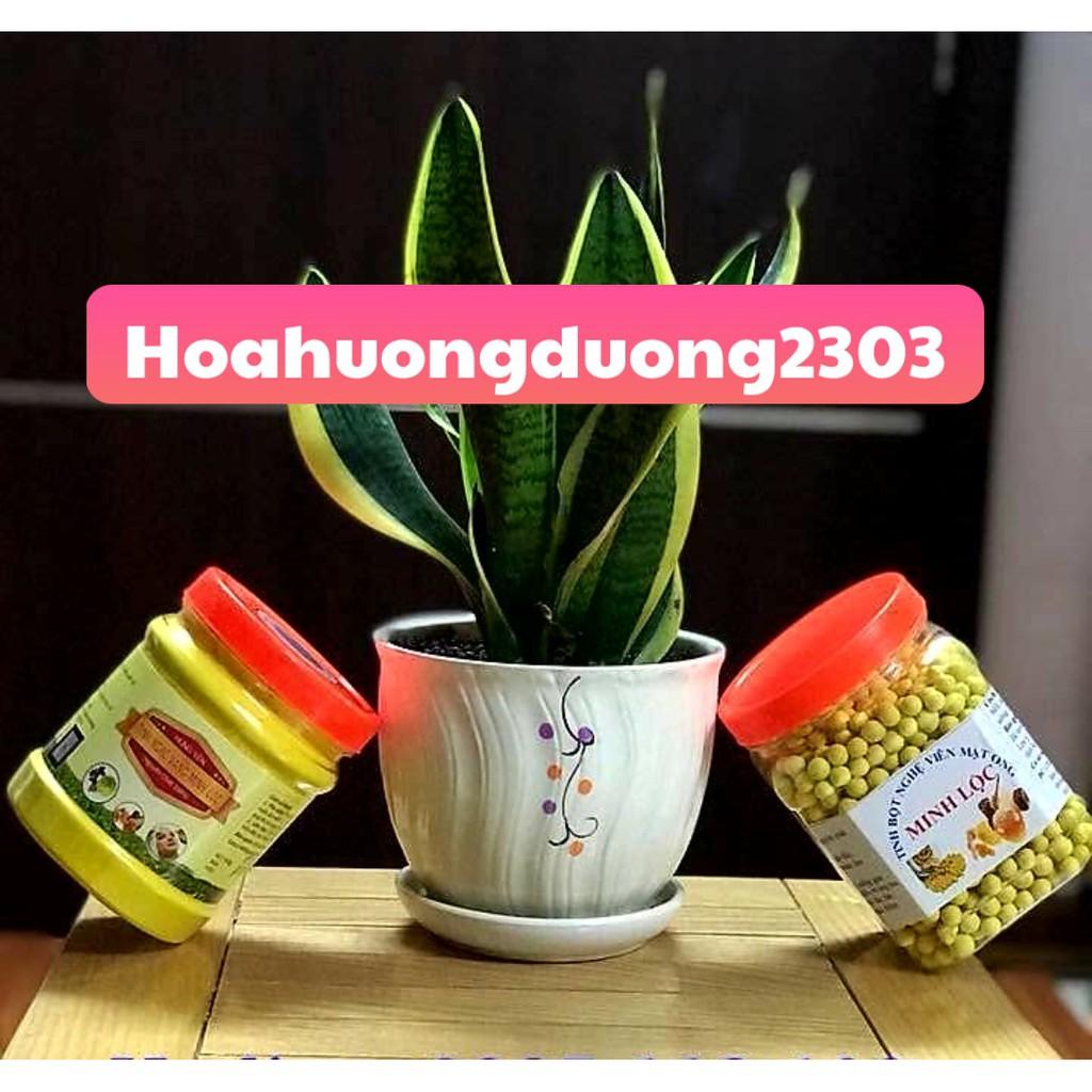 Hộp tinh bột nghệ mật ong nguyên chất thương hiệu Minh Lộc