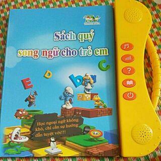 Sách điện tử song ngữ cho trẻ tặng kèm pin