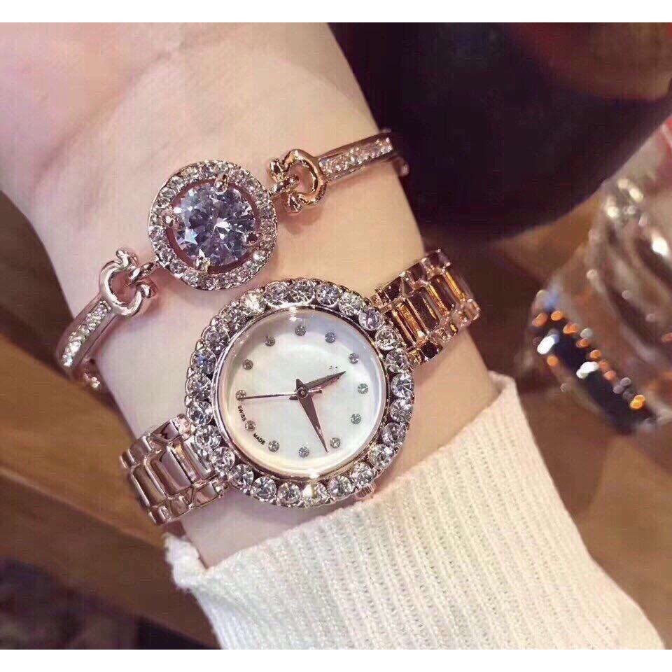 Đồng hồ BS nữ KS8 kèm vòng tay cao cấp