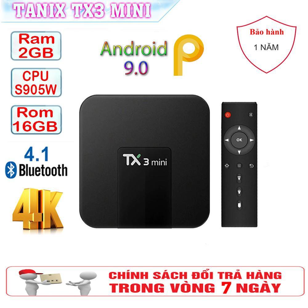 Android Tivi Box TX3 mini - 2G Ram và 16G bộ nhớ, Bluetooth, AndroidTV 9 - BH 1 năm