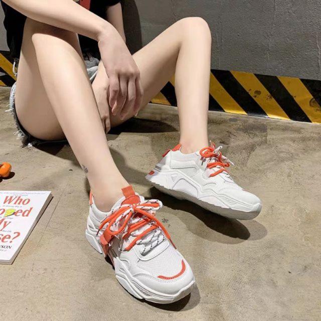 [LOẠI 1 + VIDEO ẢNH THẬT] Giày thể thao nữ trắng Ulzzang mẫu mới JINTU 4 màu cá tính đi học đi chơi đi tập đế ê