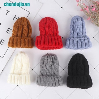 【chendujia】1/6 Dollhouse Miniature Beanie Hat Cap Doll House Decoration Dolls
