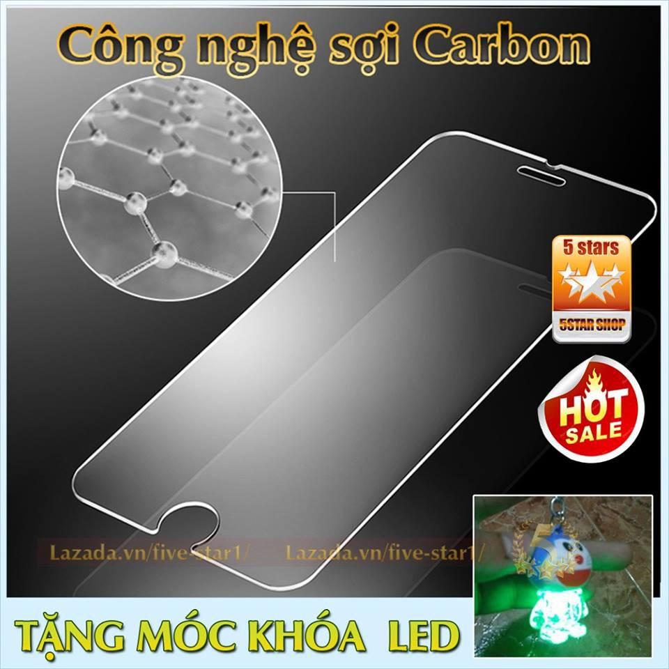 Kính dán cường lực cao cấp cho iPhone : Phủ Nano Khác Biệt + Tặng free móc khóa LED