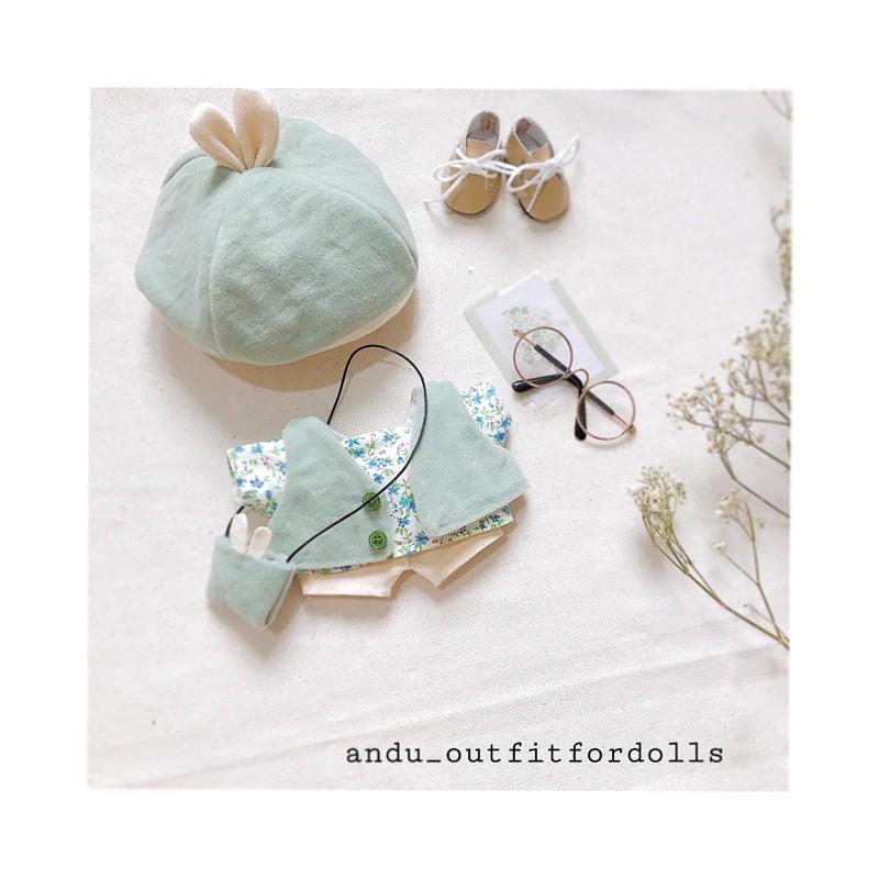 Outfit cho doll (Set BROWN) (set babeciu autumn) (Set Trà xanh)