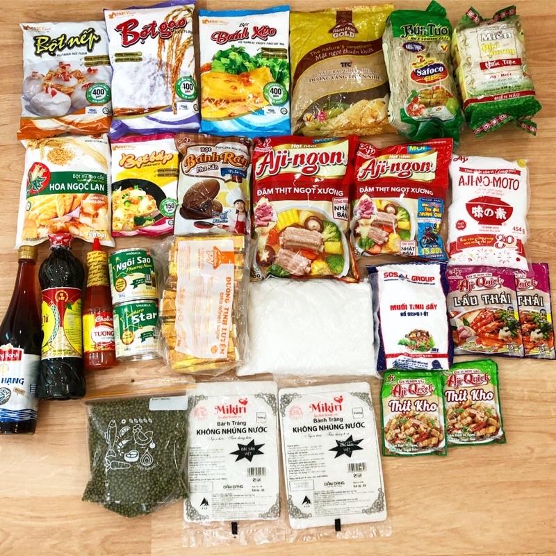 Bột các loại ( bột gạo /nếp/ năng/mì / bánh xèo/ cốt dừa  )
