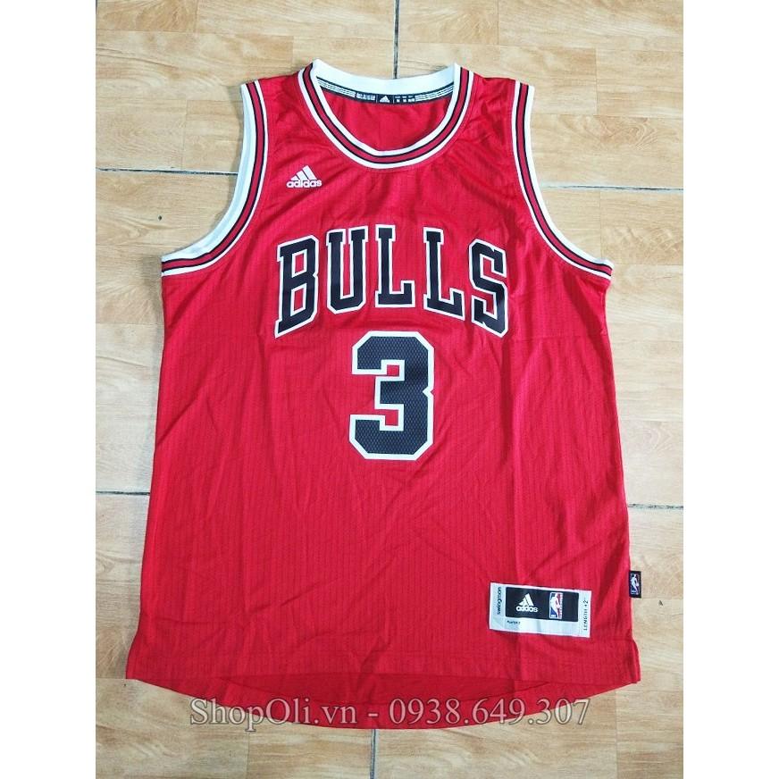 Áo bóng rổ BULLS số 3 WADE hàng xịn vnxk