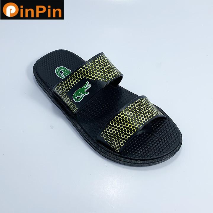 dép nam quai ngang thời trang PinPin chất liệu pvc nhẹ không thấm nước đế chống trơn trượt - hh011