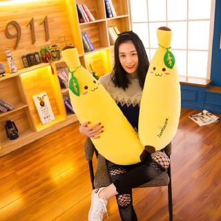 Cute Banana Plush Pillow – Funny Fruit Stuffed Toy Soft Simulation Banana Cushion Doll for Home