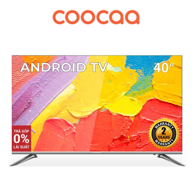 Android SMART TV Full HD Coocaa 40 inch tivi - Tràn viền - Model 40S5G (Bạc) - Chân viền