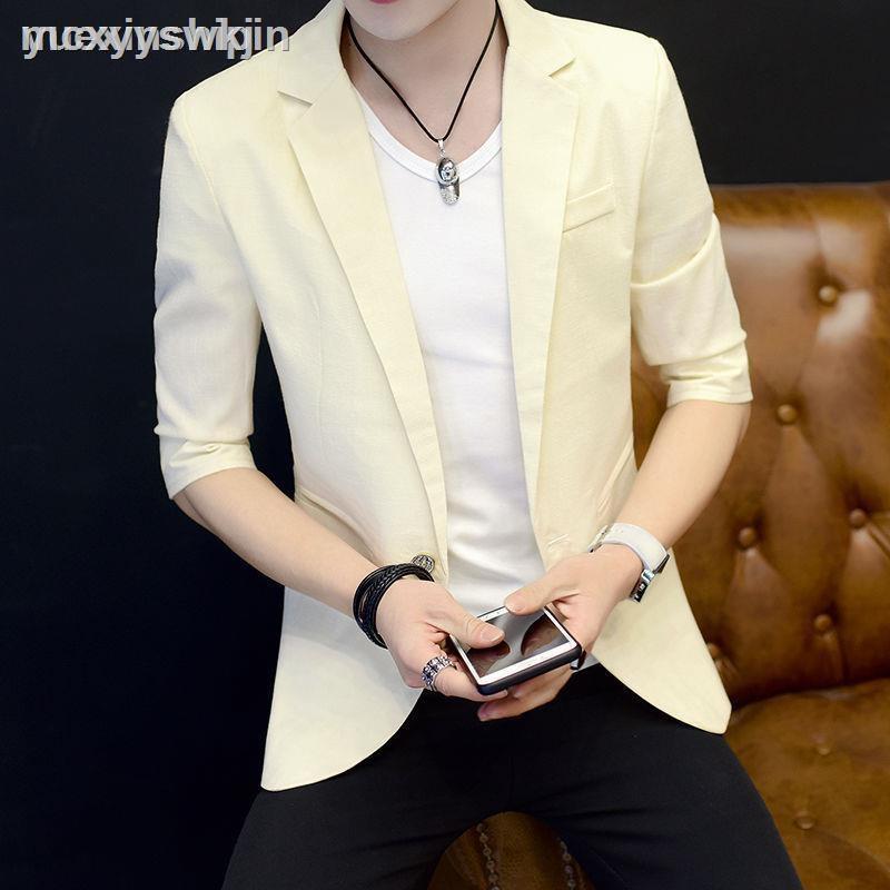 Áo Khoác Vest Mỏng Tay Dài Kiểu Hàn Quốc Thanh Lịch Cho Nam