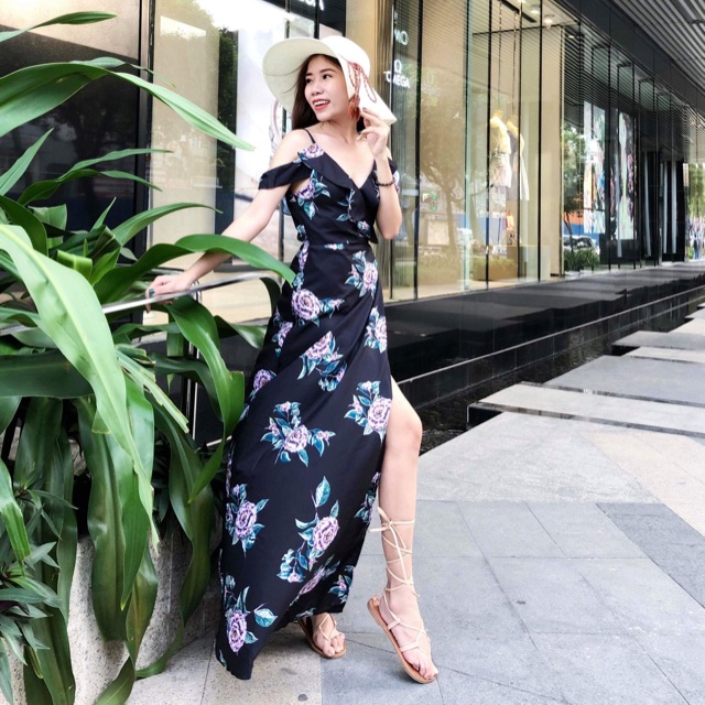 Đầm maxi in hoa