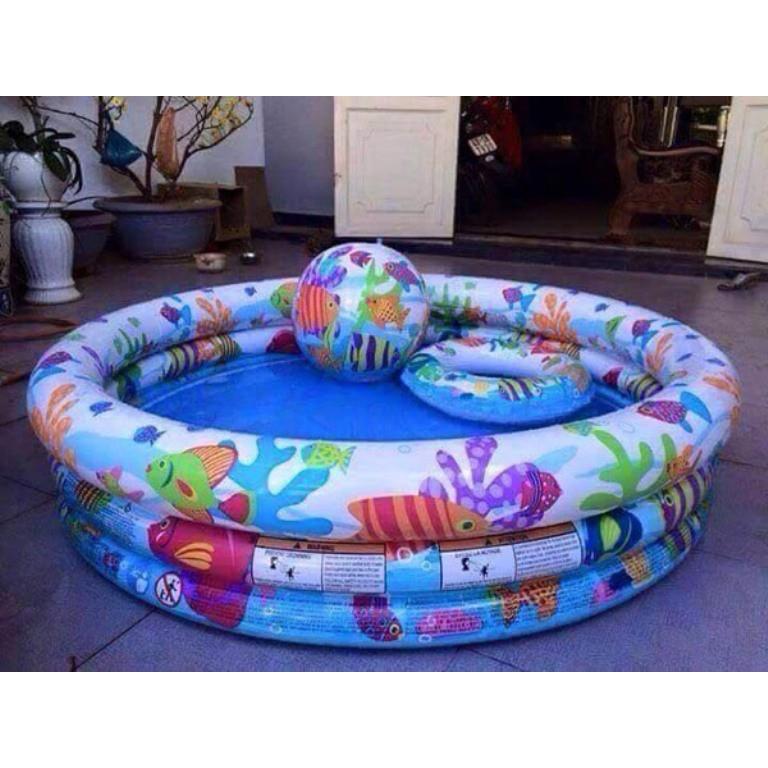 Bể phao bơi 3 chi tiết họa tiết cho bé mại zô mại zô mại zô mại zô shopdientudiendandung688