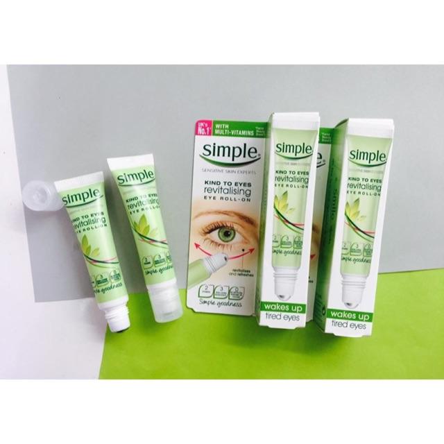 Lăn dưỡng mắt Simple Kind To Eyes Revitalising Eye Roll-On 15ml - 2749112 , 495274757 , 322_495274757 , 150000 , Lan-duong-mat-Simple-Kind-To-Eyes-Revitalising-Eye-Roll-On-15ml-322_495274757 , shopee.vn , Lăn dưỡng mắt Simple Kind To Eyes Revitalising Eye Roll-On 15ml