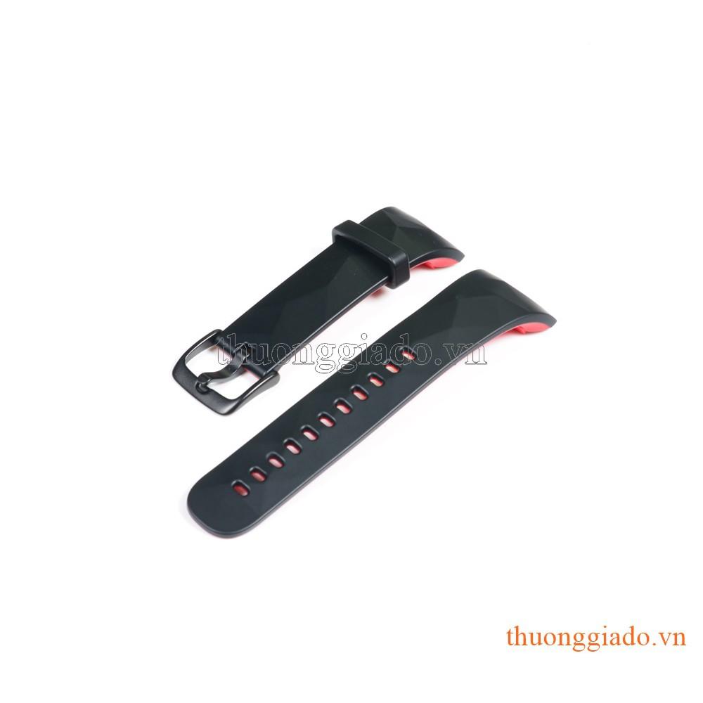 Dây đồng hồ Samsung Gear Fit2 Pro/ Gear Fit 2/ R360 màu đen đỏ, hàng chính hãng