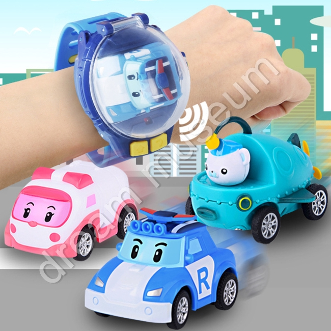 Remote Control Car Toys Wrist Watch Toys USB Mini Cartoon Vehicles Toys Gift for Children