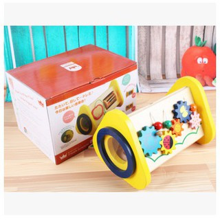 Children's multi-function toy box three-in-one percussion trument wooden knoc